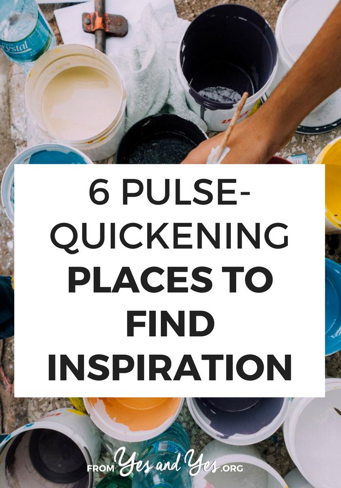 Where do you find inspiration? If you've got writer's block, don't wait for the muse to strike. Click through for 7 places to find inspiration that you've probably never considered before!