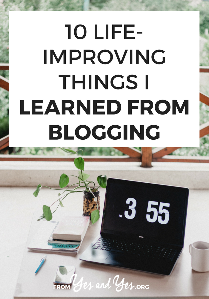 Can the things you learn from blogging help with your daily life? Of course! Click through for blogging skills that apply to all areas of life.