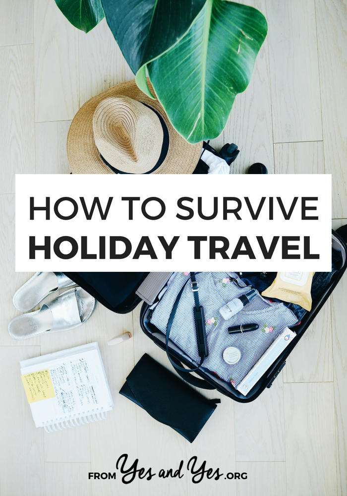 Wondering how to survive holiday travel this year? Or just looking for travel tips? Click through for travel advice that will make all your trips easier!