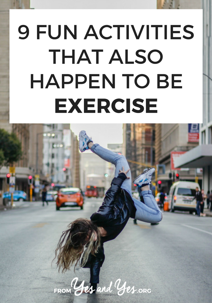 "Looking for fun exercise ideas? The best exercise tip out there is ""do something you actually enjoy.' Click through for 9 fun exercise suggestions!"