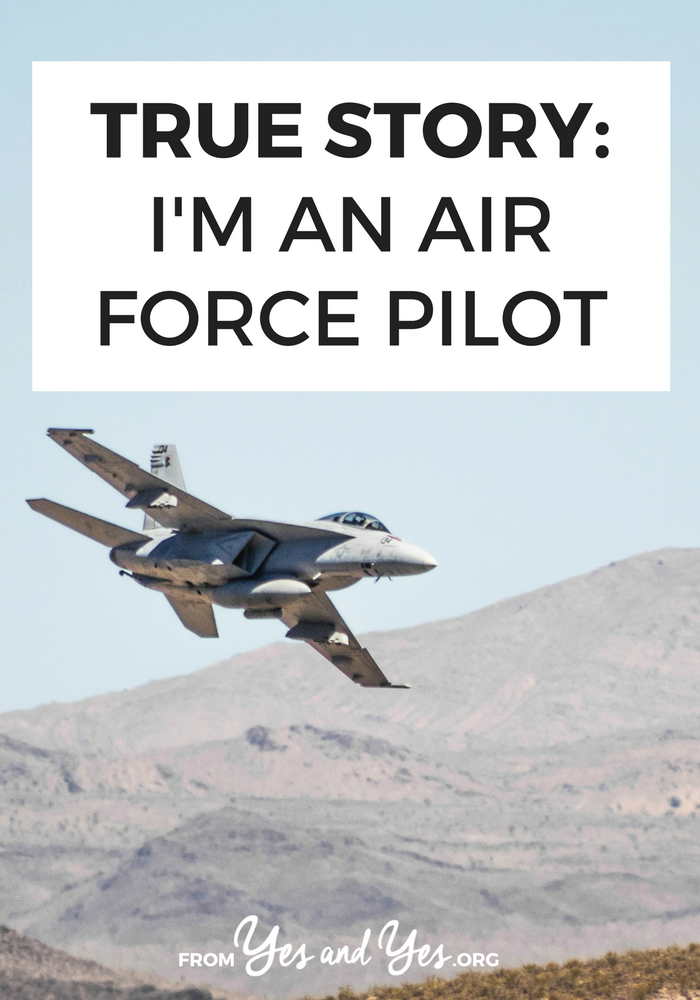 Wondering what it's like to be an air force pilot? Click through for one pilot's story!