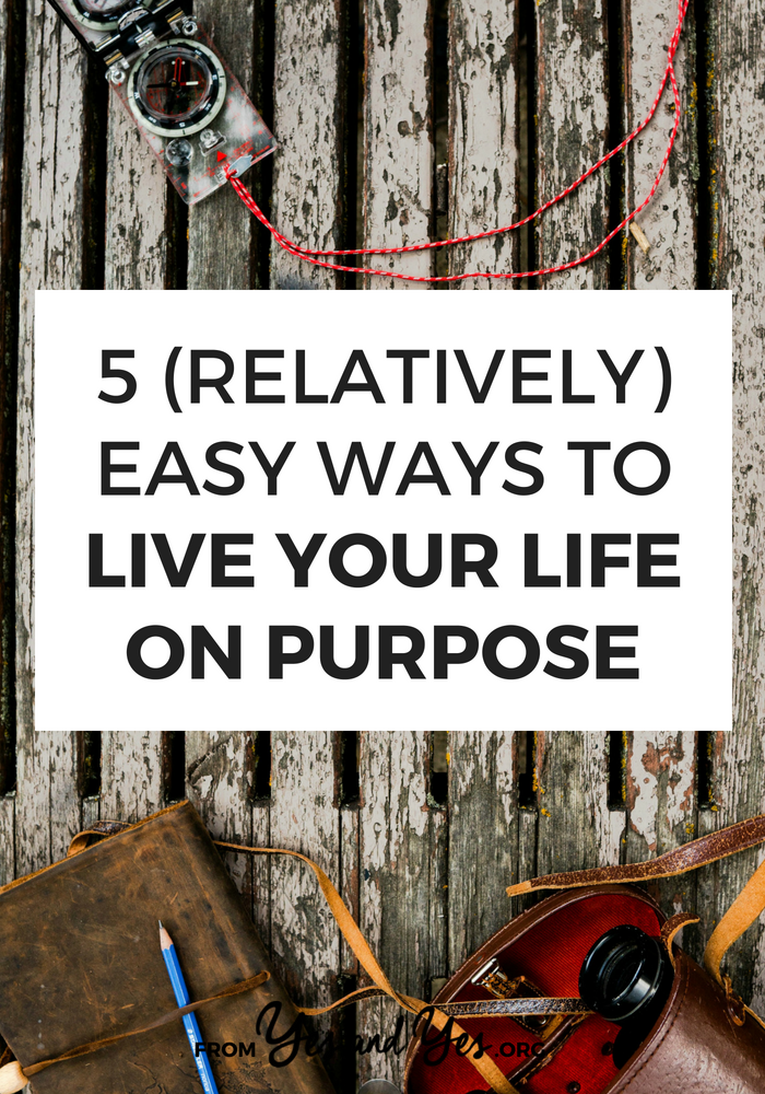 Sick of wandering through your life in a haze? Want to live your life on purpose? DUDE, DON'T WE ALL. Click through for 5 tips that will help >> yesandyes.org