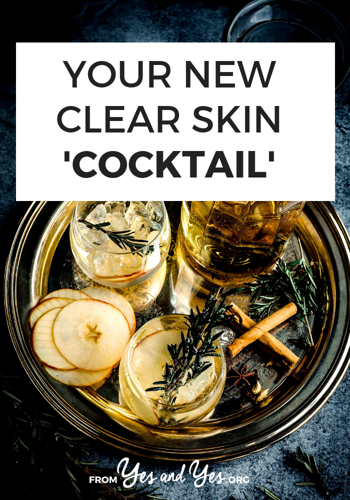 Looking for a clear skin cocktail? Wondering what to eat or drink for clear skin? Click through for some DIY skincare you can drink!
