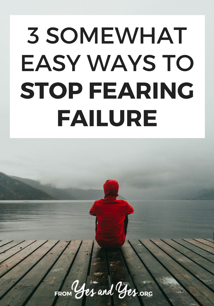 Are you spending your days fearing failure? Do you put off trying new things because you only like to do things you're immediately good at? Want to be braver and less anxious about failing? READ THIS.