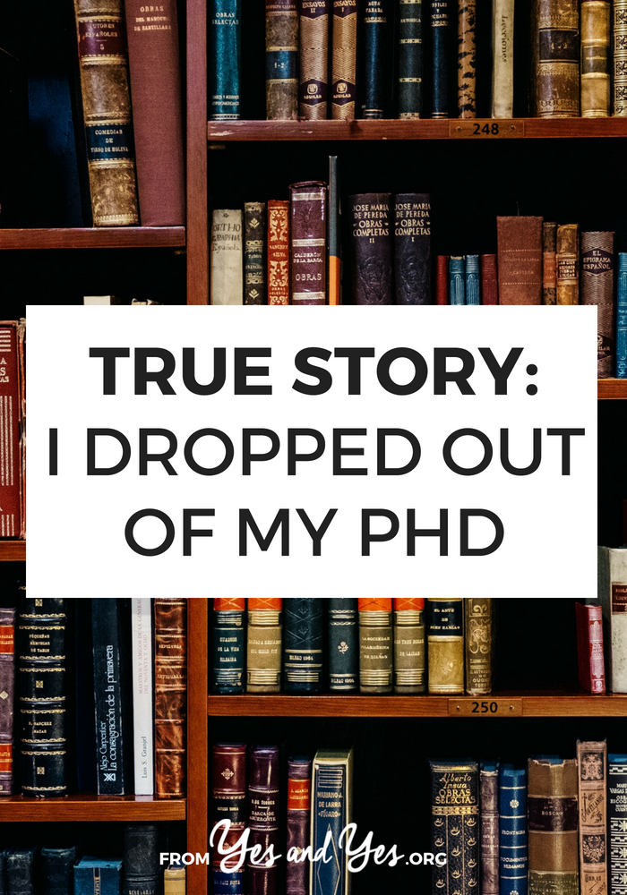 Thinking about dropping out of your PhD? Thinking about graduate school? Click through for one woman's story of leaving her PhD program.