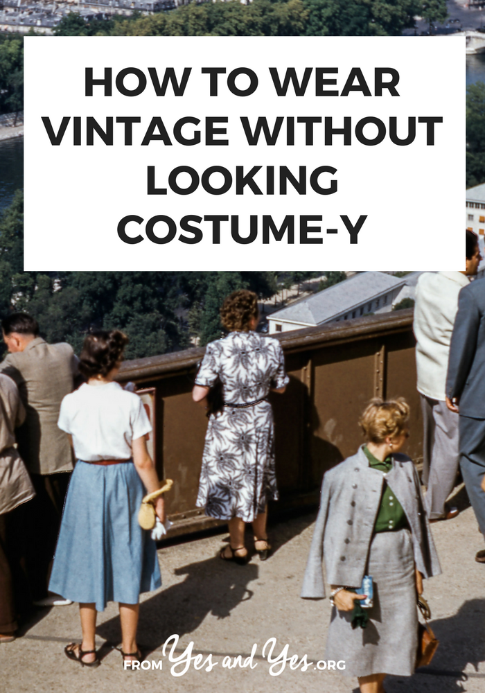 Not sure how to wear vintage in a way that works with your everyday wardrobe? Click through for vintage styling tips from a vintage expert!