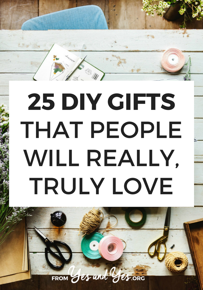 Want some DIY gift ideas that don't suck? That people will really, truly love? Click through for DIY gift ideas for the man, woman, traveler or pet-owner in your life! >> yesandyes.org