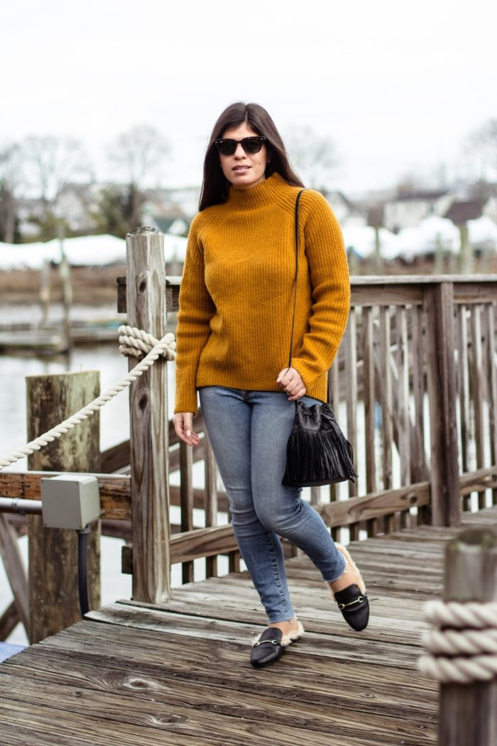 A mustard sweater and fur-lined loafers + style tips from your favorite Latina style blogger!