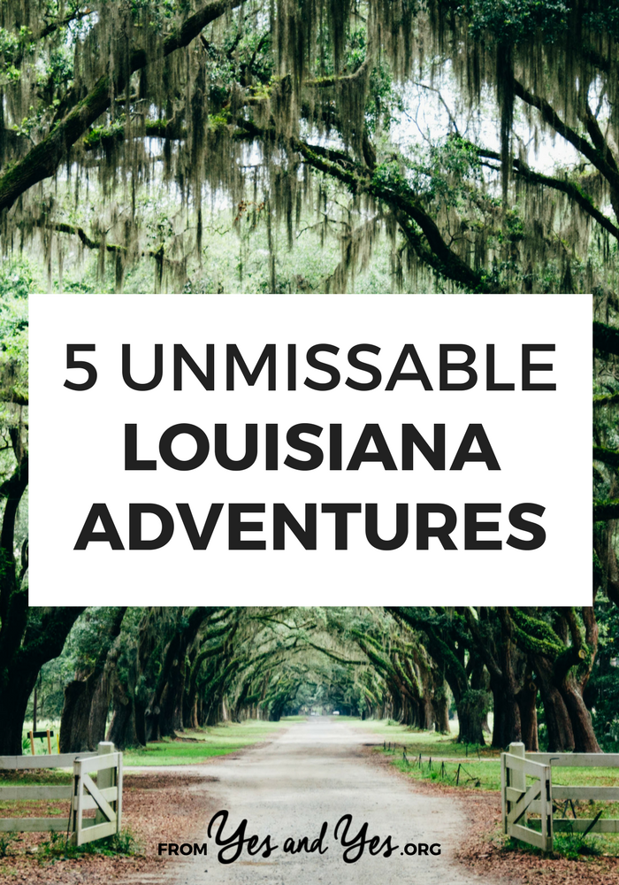 Looking for Louisiana adventures? Or things to do in Louisiana OTHER than Mardi Gras? Click through for 5 Louisiana travel ideas you won't find elsewhere!