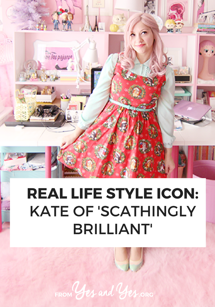 A patterned dress with a collared shirt + budget style tips from a pink-haired style blogger!