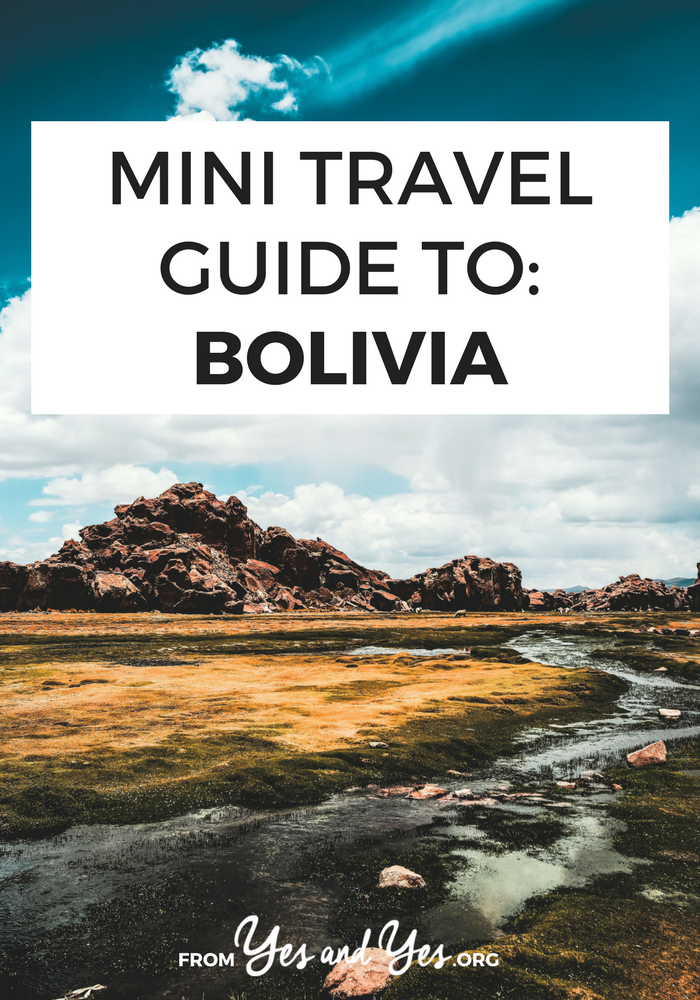 A travel guide to Bolivia written by a woman who spent 6 months there! Click through for Bolivian travel tips on what to do, where to go,  cultural travel tips, and ideas for how to do it safely and cheaply!
