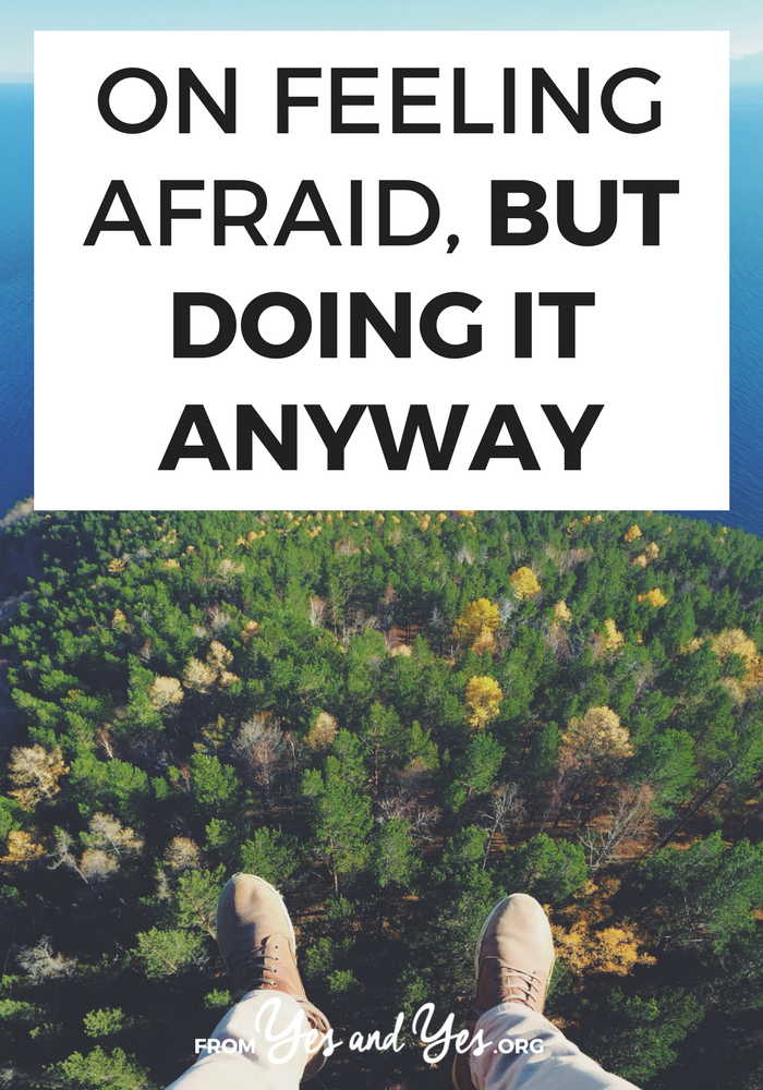 Are you feeling afraid? This pep talk is worth printing out and hanging somewhere! Click through to get past your fear and self-doubt!