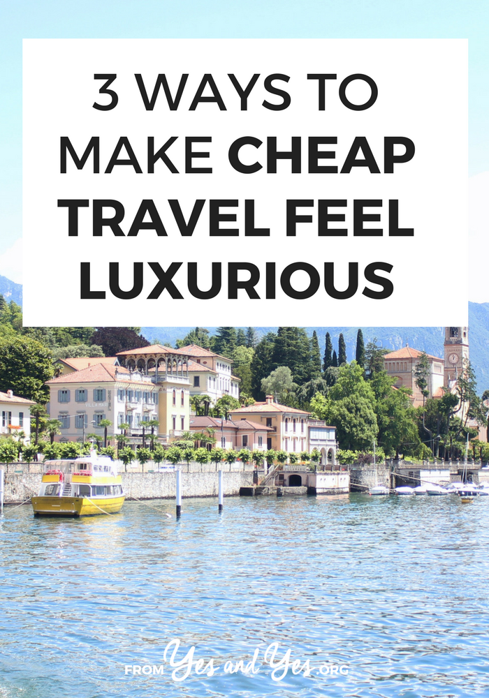Cheap travel doesn't have to be awful! There are ways to make cheap travel feel luxurious with just a few things to bring or do to make cheap travel better. Like, uh, the entire 'travel sized' section of Sephora.com. Click through for more ideas! >> yesaneyes.org
