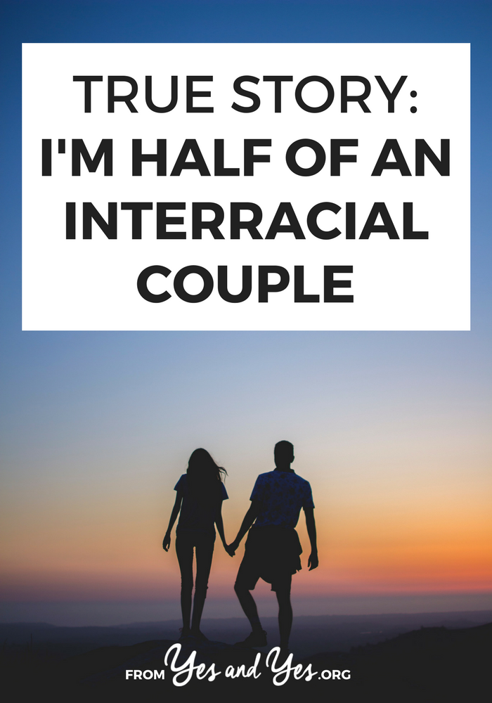 What's it like to be half of an interracial couple? One would hope that it would be a non-issue but sadly, it's not. Click through to read one woman's story