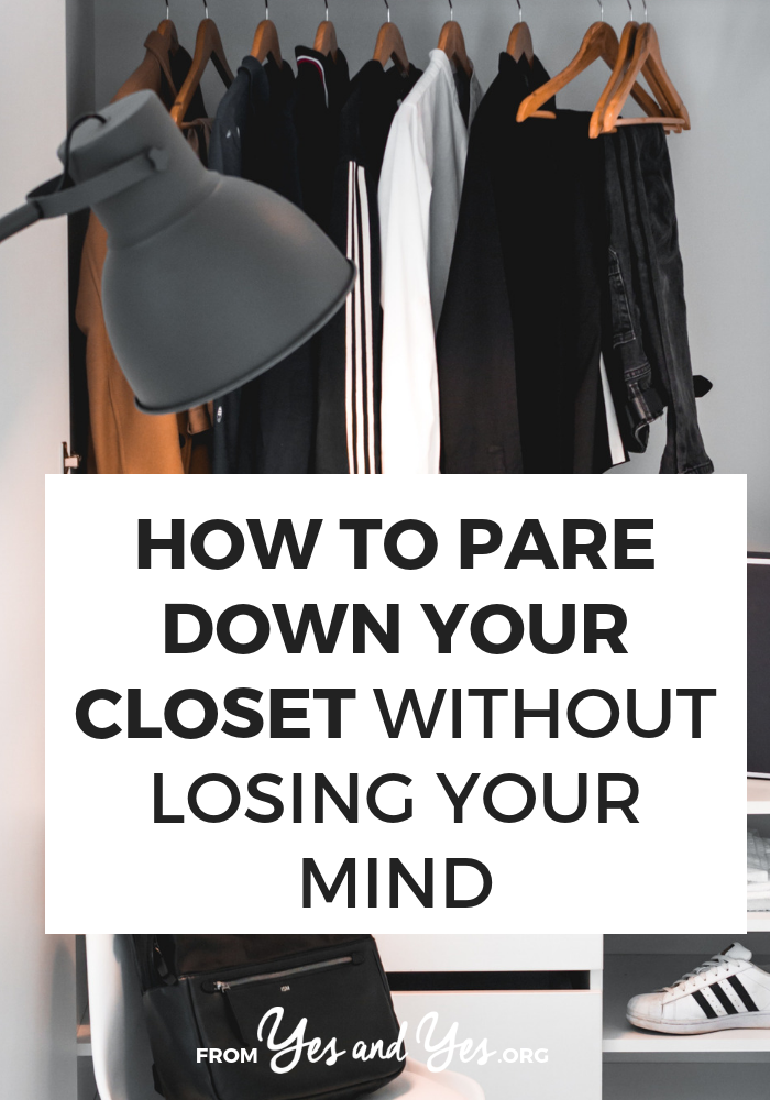 Want to pare down your closet but not sure where to start? Are you painfully aware that you don't wear 70% of what you own?  Click through for one stylist's tips for decluttering your closet!