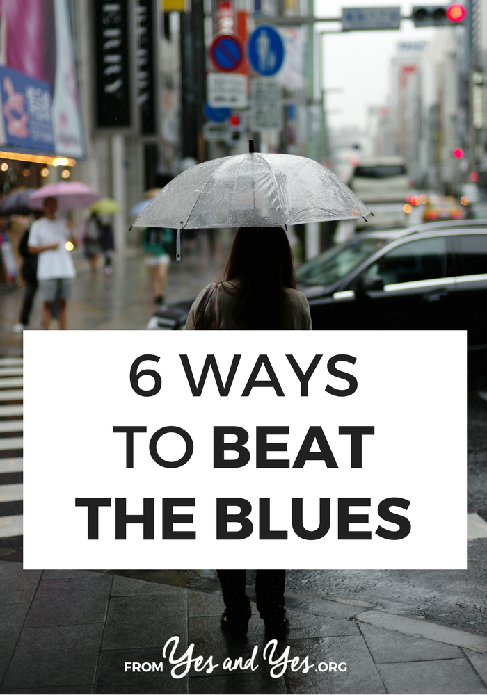 How do you beat the blues? How do you cheer yourself up? Click through for 6 solid ideas that will get you out of any bad mood!