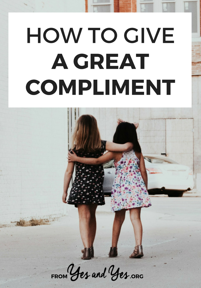 "A really great, day-making compliment is more than ""your hair looks great!"" Click through for a surefire formula for making someone feel special + amazing"