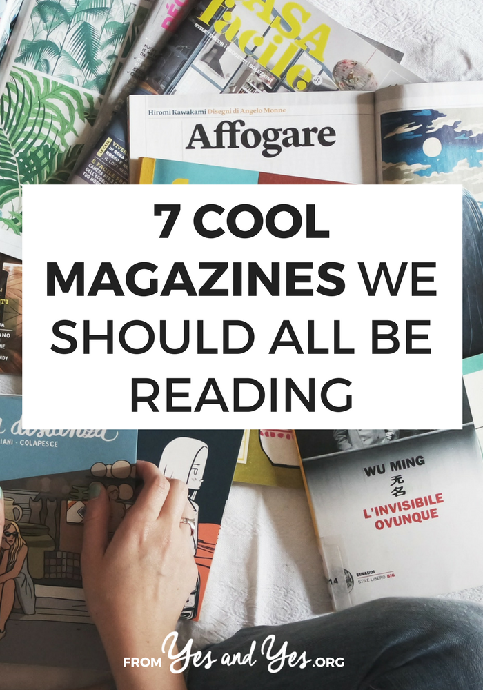 Looking for some cool magazine recommendations? Something other than Real Simple and Oprah magazine? Click through for 7 magazine recs you've never considered!