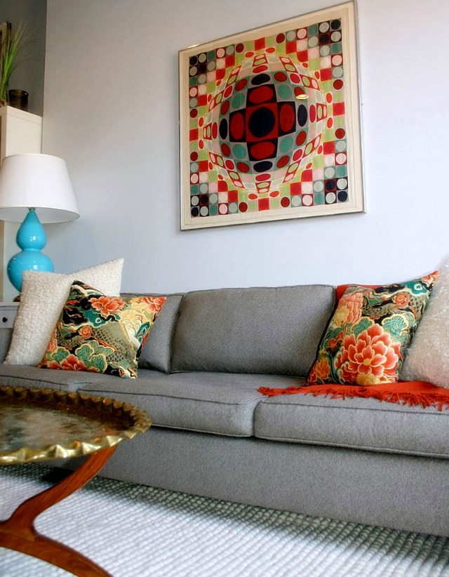 Silk scarf pillows