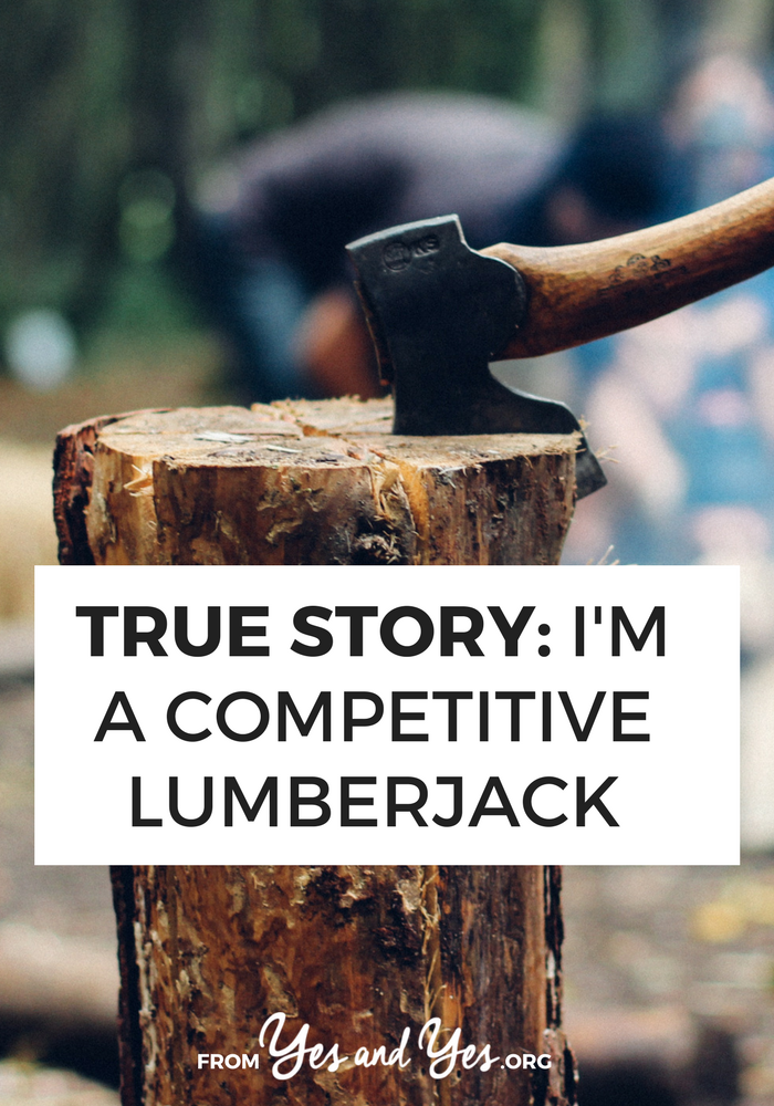 What's it like to work as a competitive lumberjack? Is it different than being a 'real' lumberjack? Click through for one man's story!
