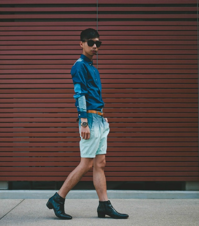 Blue ombre short + style tips from your favorite male fashion blogger!