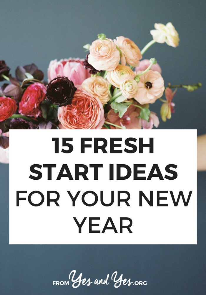 Want a fresh start this year? We all do! before you worry about resolutions, spend a few hours changing your screen saver and cleaning up social media! Click here for more ideas: // yesandyes.org