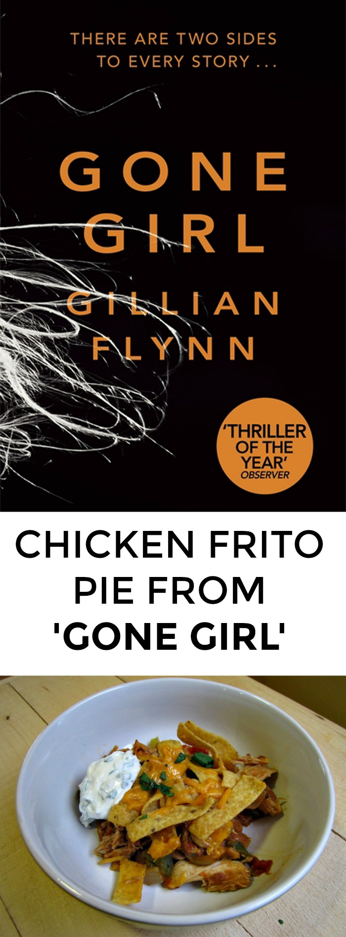 Looking for a recipe from Gone Girl? Want to win book club? Look no further than this yummy, easy recipe for chicken Frito pie!