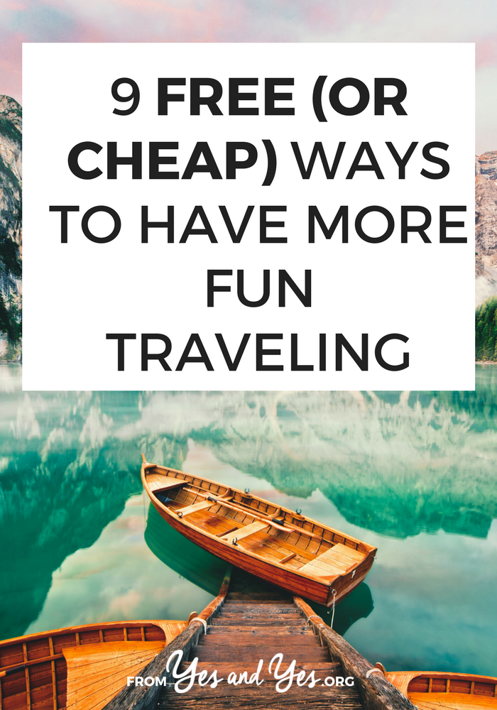 Budget travel doesn't have to be boring and saving money while you travel doesn't have to suck! Tap through for 9 free or cheap travel ideas you can use in any destination! #traveltips #budgettravel #cheaptravel #travelonashoestring
