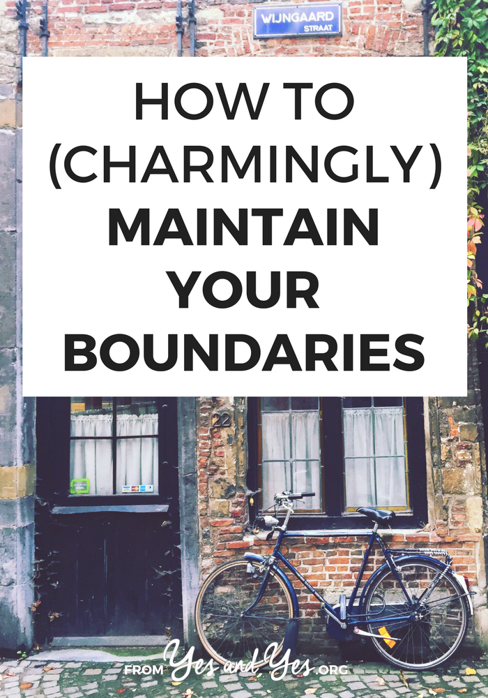 Do you want to maintain boundaries better? Not say 'yes' when you mean to say 'no'? We've all been there! This 4-word phrase will help you maintain your boundaries!