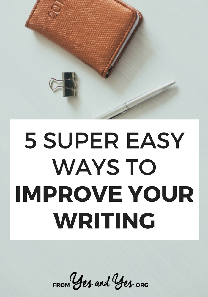 Want some easy ways to improve your writing? Without a daily two-hour free writing practice? I've been writing professionally for 16 years, click through for my best tips! >> yesandyes.org