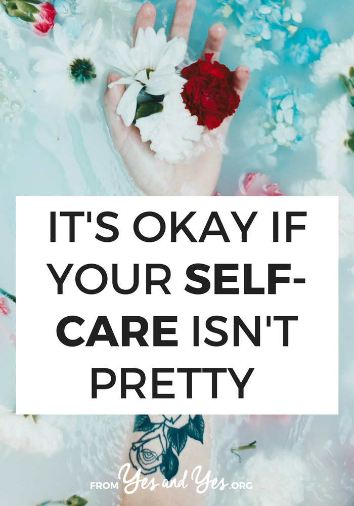 Are you trying to develop a self-care practice? It doesn't have to involve candles, altars, mantras, or bubble baths if you're not into those things. Self-care can look however YOU want. Click through to read more >> yesandyes.org
