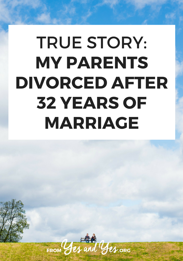 What's 'gray divorce'? How does it change your views on marriage when your dad leaves you mom for another woman? Click through to read one daughter's story // yesandyes.org