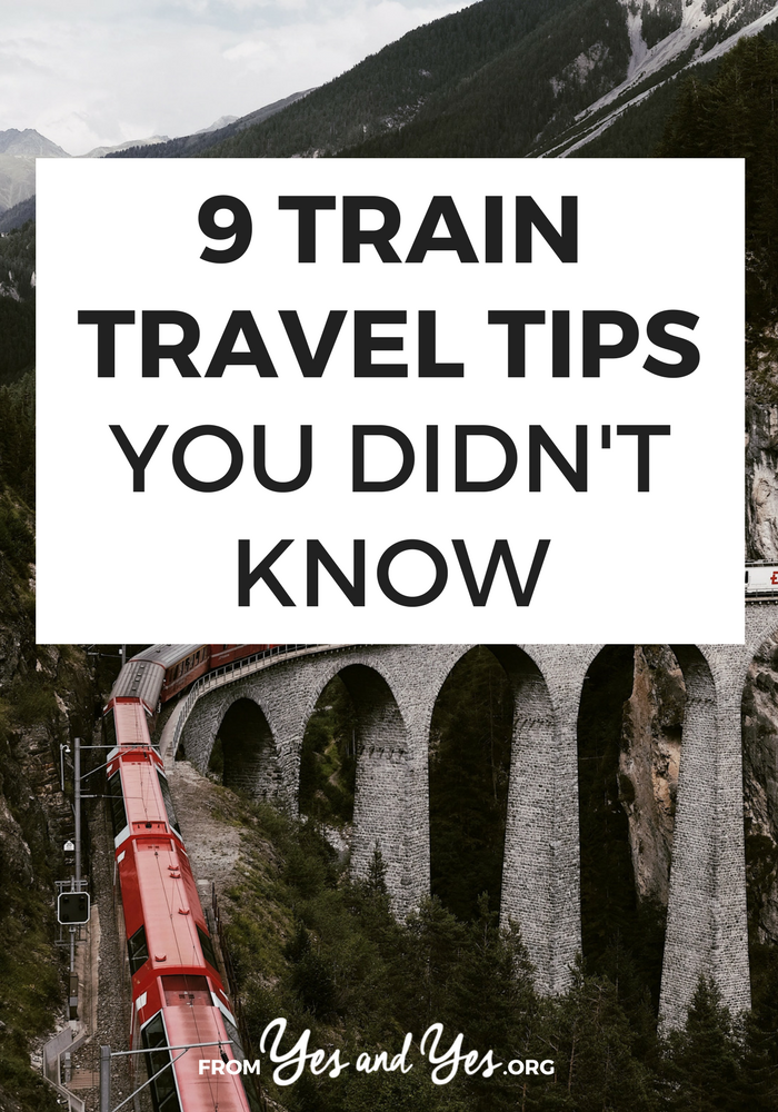 Looking for train travel tips? Travel by train is different than other types of travel, so make sure you're ready for your train trip by following these tips! #traintravel #traintips