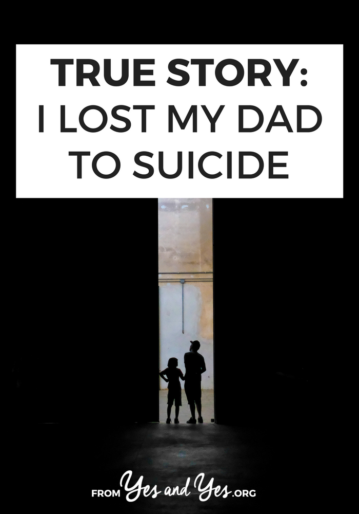 No matter what, it's incredibly difficult to lose a parent. How would you cope if you lost a parent to suicide? Click through for one woman's story.
