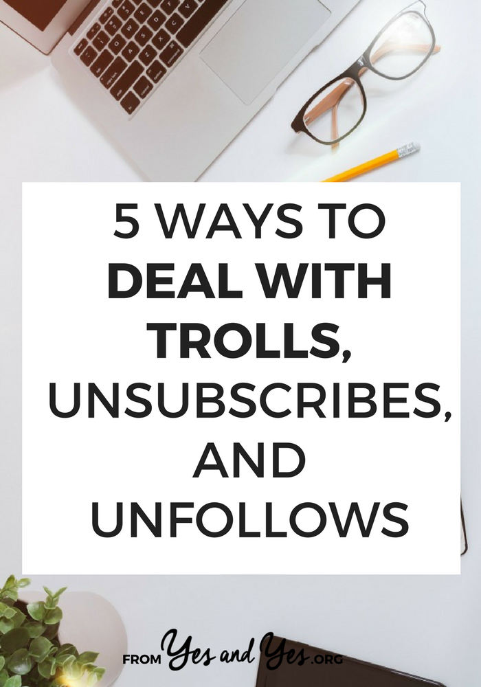 How do you deal with trolls? How do you cope with the inevitable unfollows and unsubscribes that come with working online? I've been online for 9 years and these are my best troll-defeating tricks!