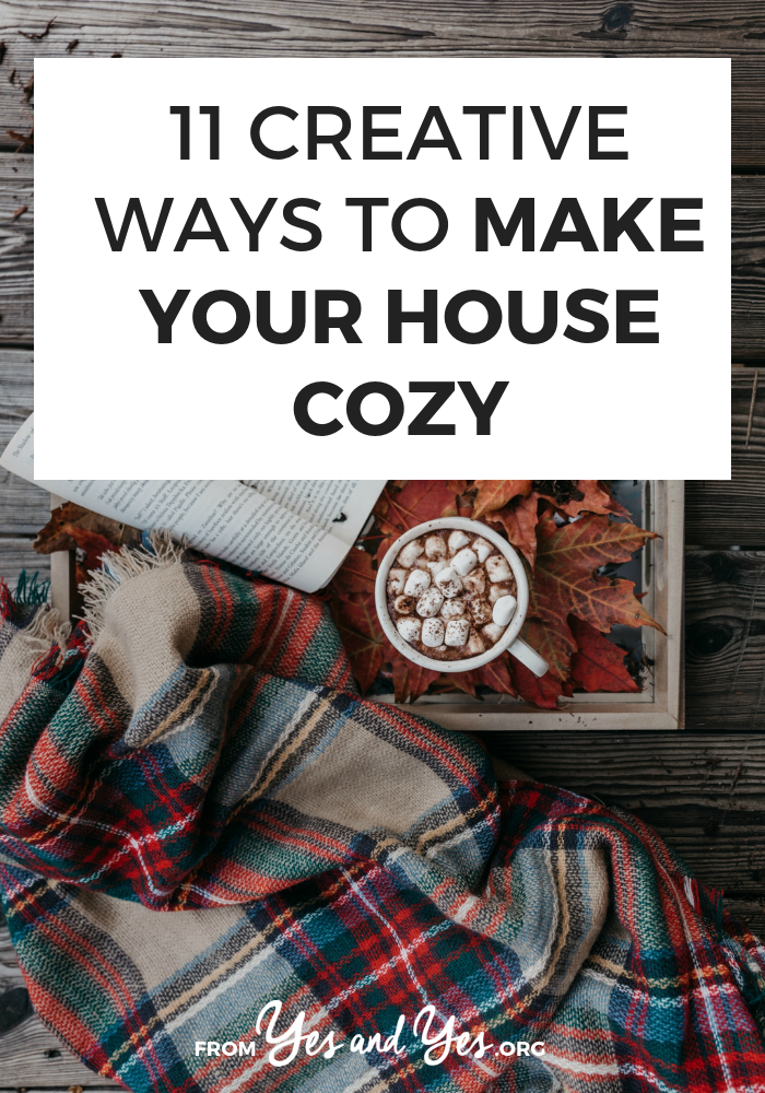 Want to make your house cozy this winter? Looking for winter decor tips? Look no further! Click through for cozy, warming, fun ways to make your house a snuggle palace this winter! >> yesandyes.org