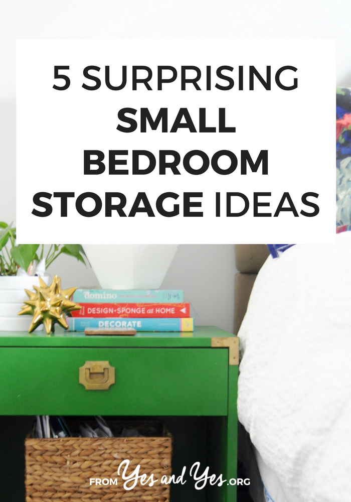 Looking for storage ideas for your small bedroom? Click through for 5 clever organizing tips you haven't seen before!