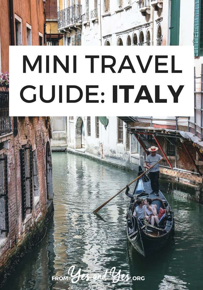 Looking for a travel guide to Italy? Click through for Italian travel tips from a local - where to go, what to do, what to eat, and how to do it all cheaply!