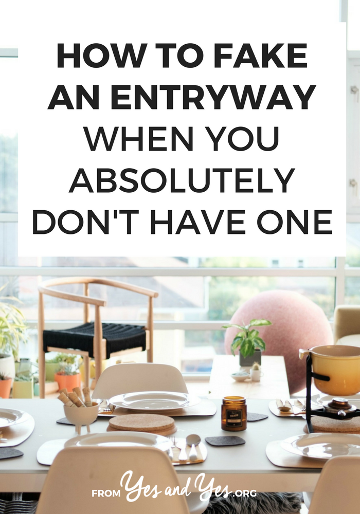 Want to fake an entryway? Make a small space look a little special? Click through for clever ways to make your space more inviting and create an entryway where one doesn't exist!