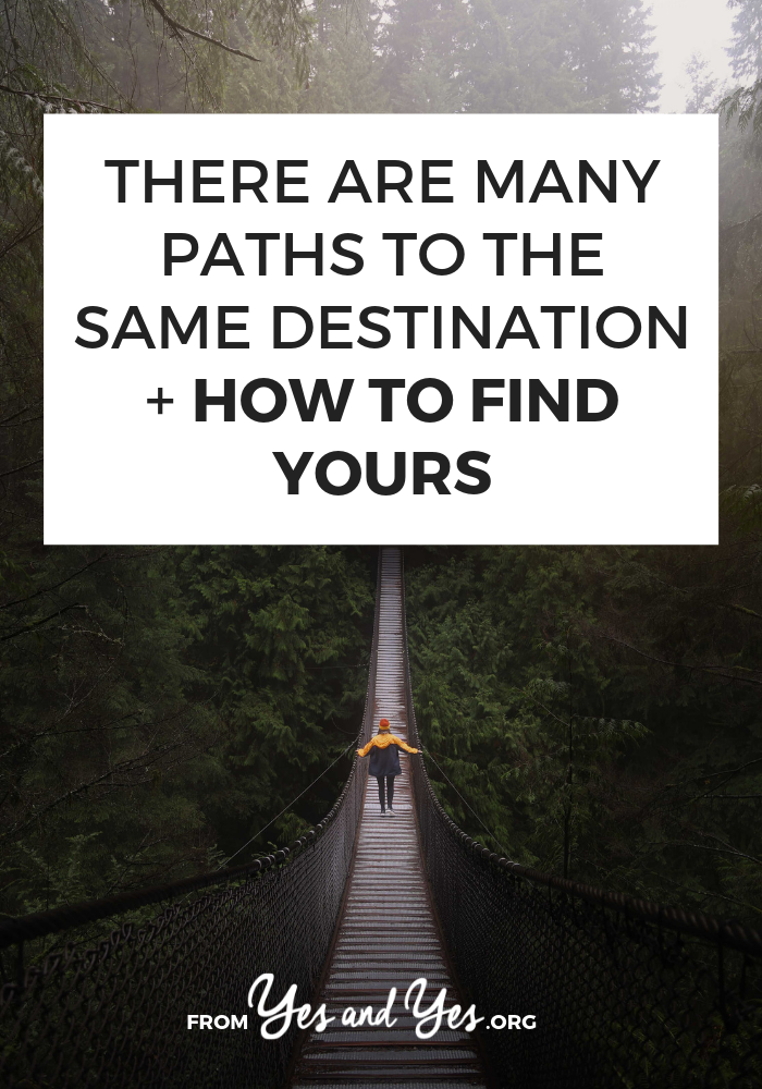 Trying to find your path? If you're looking for goal-setting tips or motivation, it's good to remember that there are lots of different ways to get where you're going. Click through for tips on finding YOUR path. #selfhelp #selfdevelopment #motivation #goals