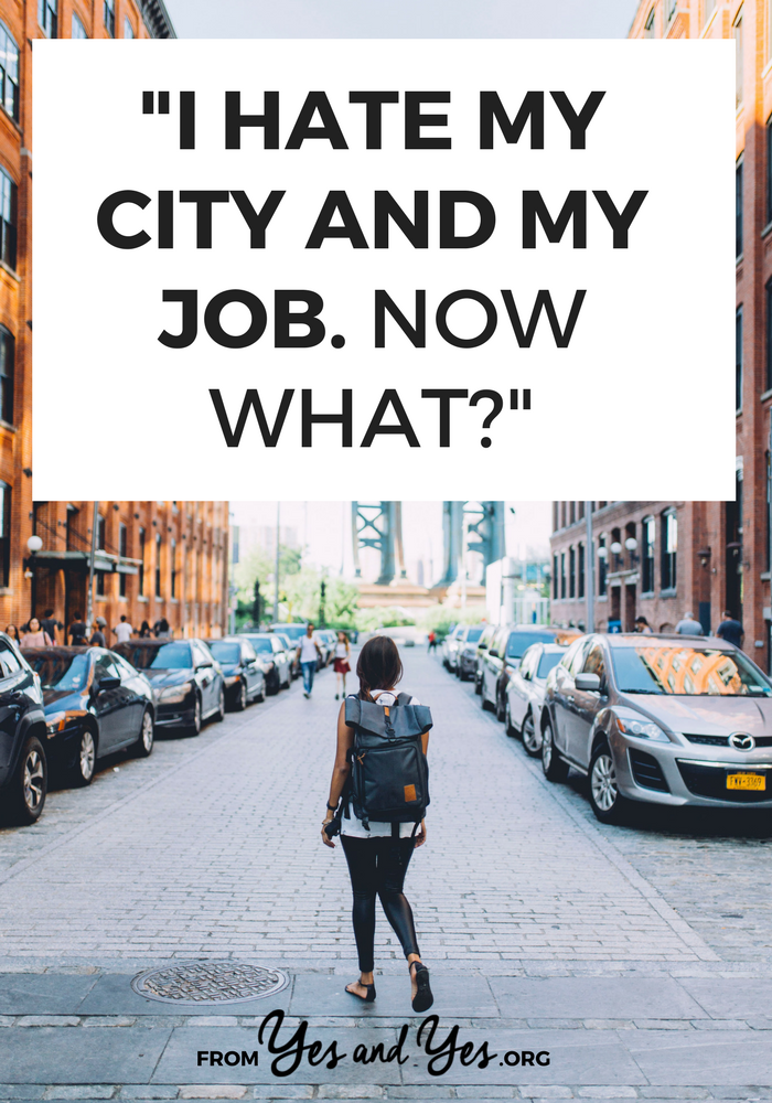 Do you hate your city? Non-plussed by your job? Starting over can seem impossible, but it's not. You're not stuck. Click through for 1,700 words + tons of actionable tips to get out of dodge! >> yesandyes.org