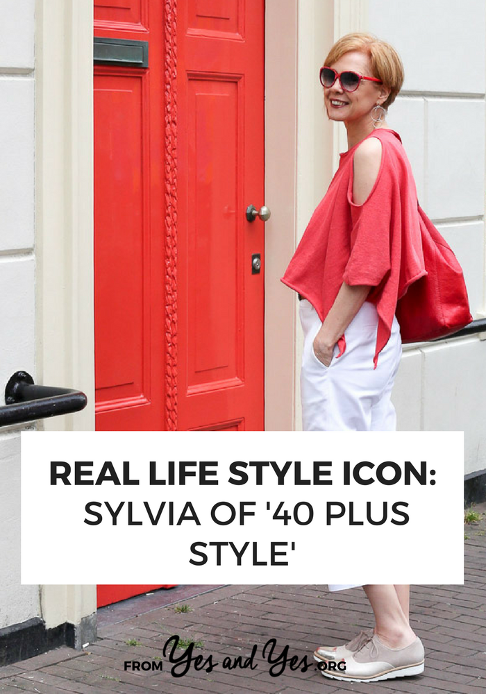 An asymmetrical top and white pants  + style tips from your favorite 40+ style blogger!