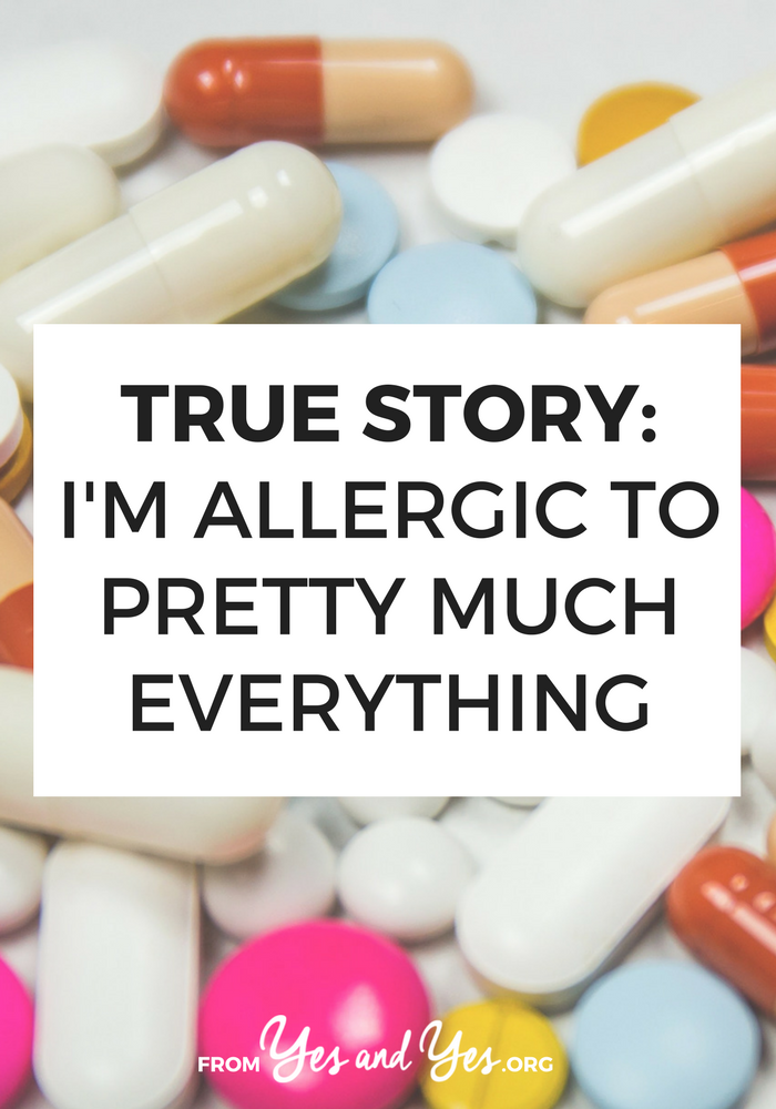 What would life be like if you were allergic to everything? Or at least it felt like you were allergic to ALMOST everything? Click through for one woman's story of dealing with severe food allergies and environmental allergies.