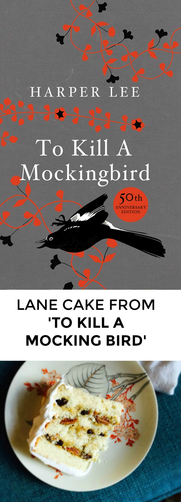 Looking for a recipe from To Kill A Mockingbird to impress your book club? Click through for an amazing Lane Cake recipe that will knock people's socks off!