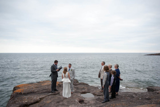 wedding on lake superior