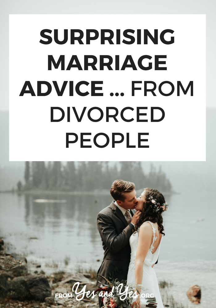What kind of marriage advice could divorced people possible give you? You'd be amazed! Click through for marriage tips on keeping things fresh, romantic advice, and relationship tips you can use starting today >> yesandyes.org
