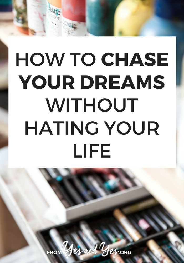 Can you chase your dreams while still having a social life? Can you chase our dreams without going broke? Do you really need to drop $$ on a new computer or camera? Click through for 12 tips from people who have made it happen // yesandyes.org