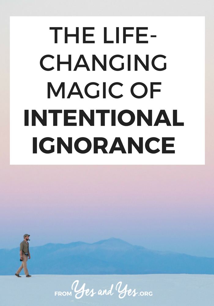 Sometimes selective, temporary, intentional ignorance is the best choice you can make for yourself, your life + your business. Read on for ideas about how you have intelligently ignore things and still thrive.  #selfdevelopment #selfhelp #productivity #motivation #lifehack