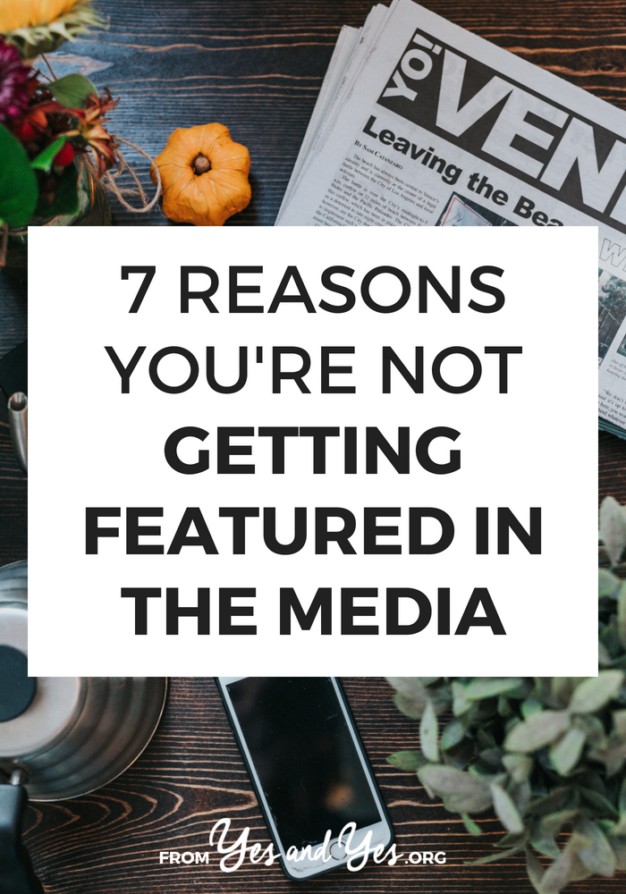 Are you trying to get featured in the media? But the newspapers and tv shows are ignoring your emails? Stop doing these 7 things! // sarahvonbargen.com