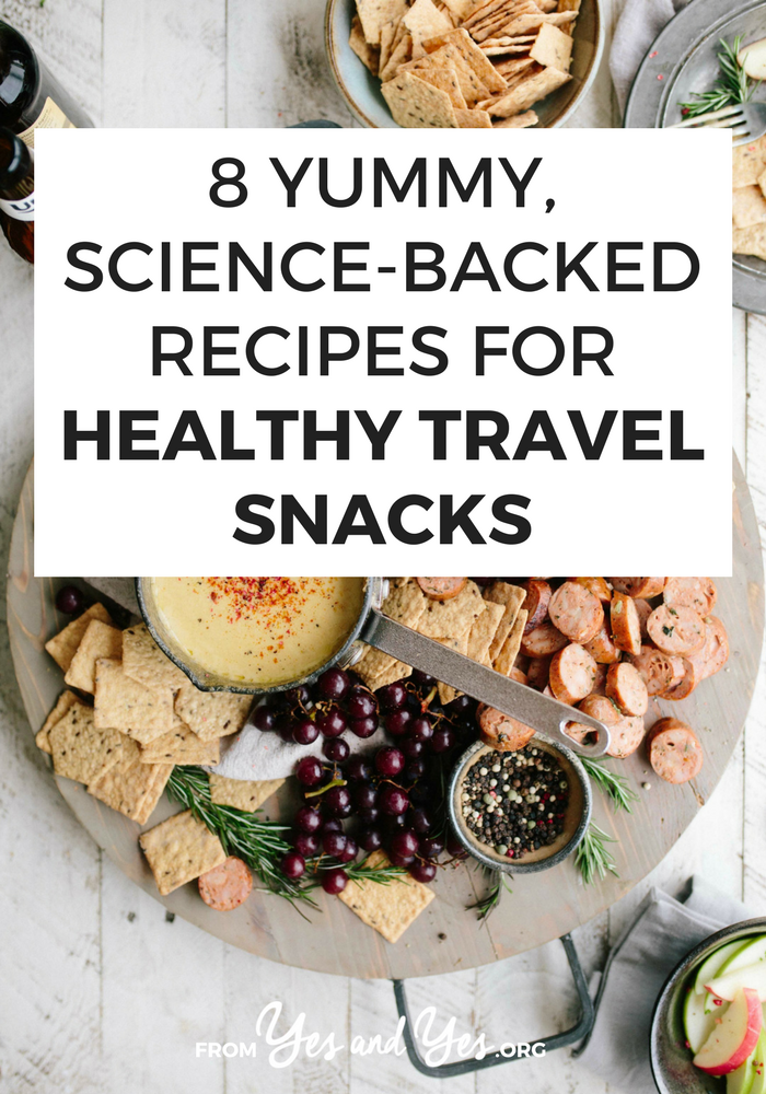 Better, more interesting advice than 'pack baby carrots and a water bottle.' You'll love these healthy travel snacks!